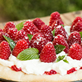 White Chocolate Raspberry Cheesecake Flatbread
