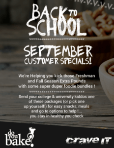 september customer specials - do you bake
