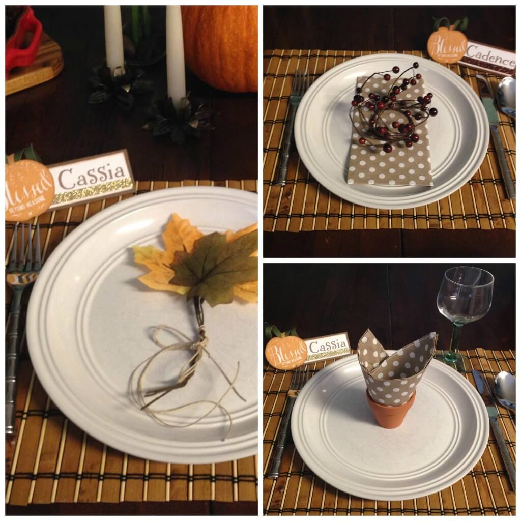 Easy Fall Place Settings