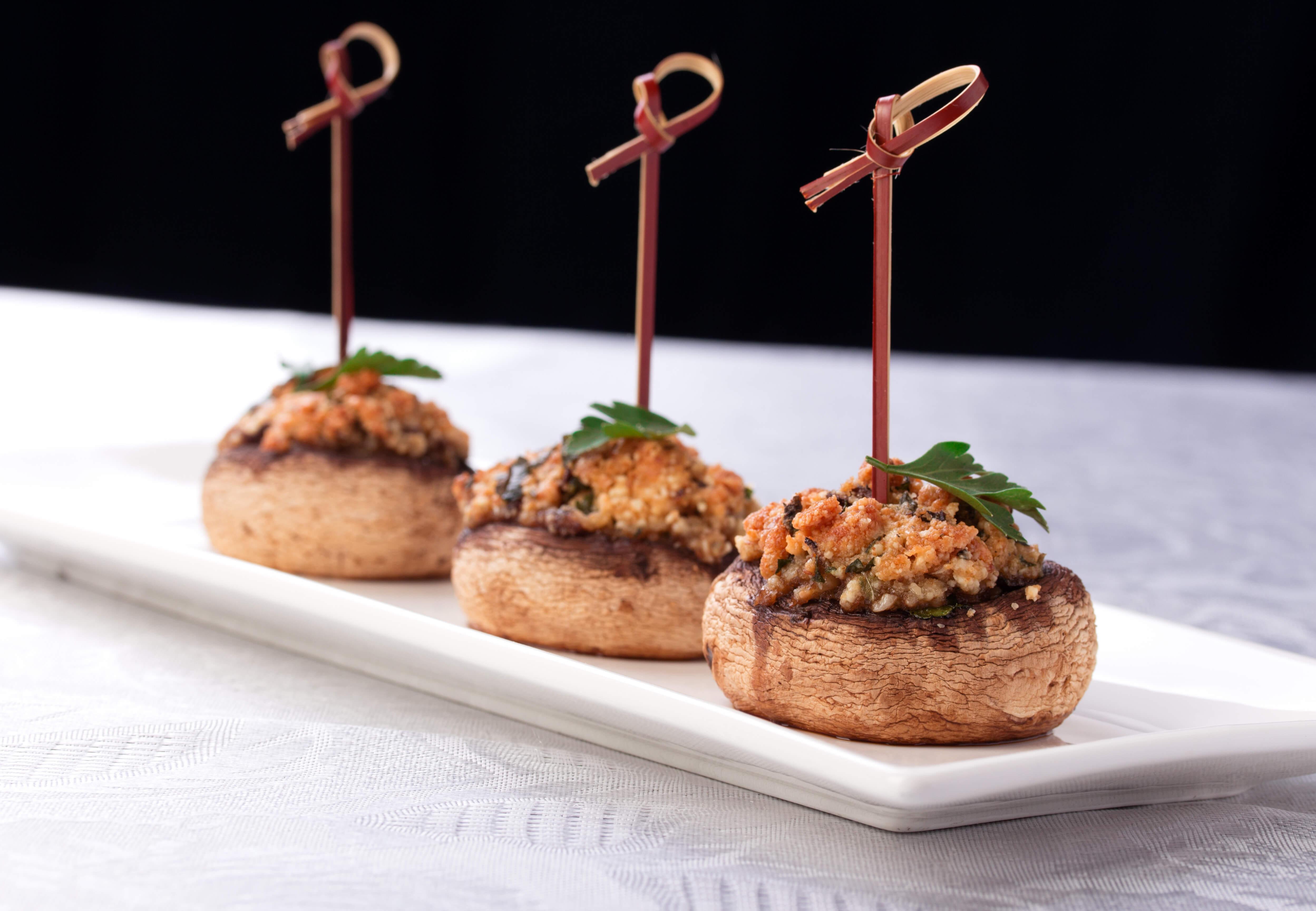Stuffed Mushroom Caps Appetizer