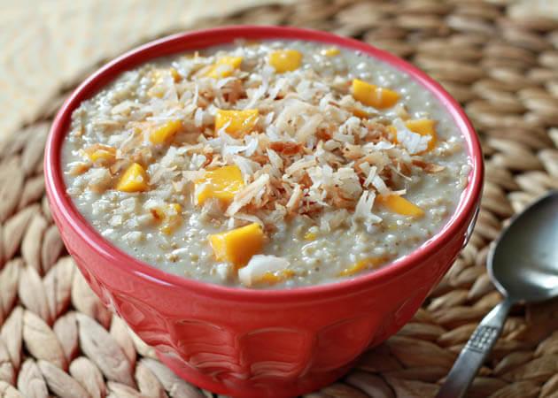 8 - eat more - quinoa and oatmeal - energizing matcha mango