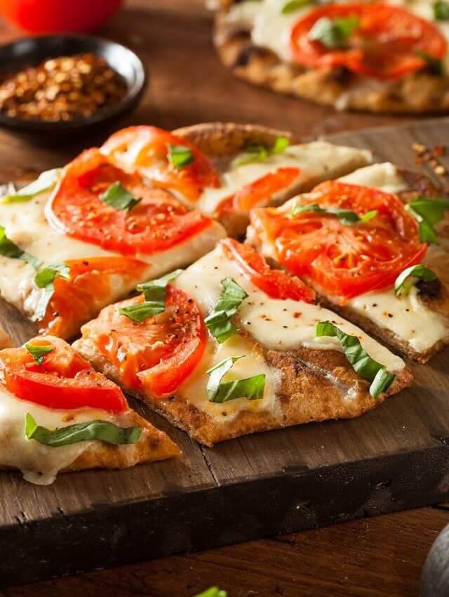 Grilled Margarita Flatbread Pizza