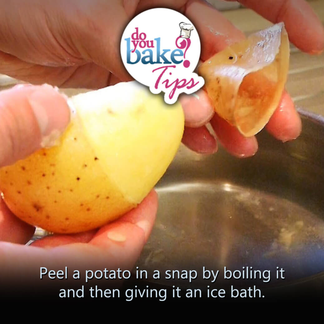 Deskin Potatoes Without A Peeler! Time To Ditch The Peeler Again! Peel A  Potato In A Snap By Boiling It And Then Giving It An Ice Bath