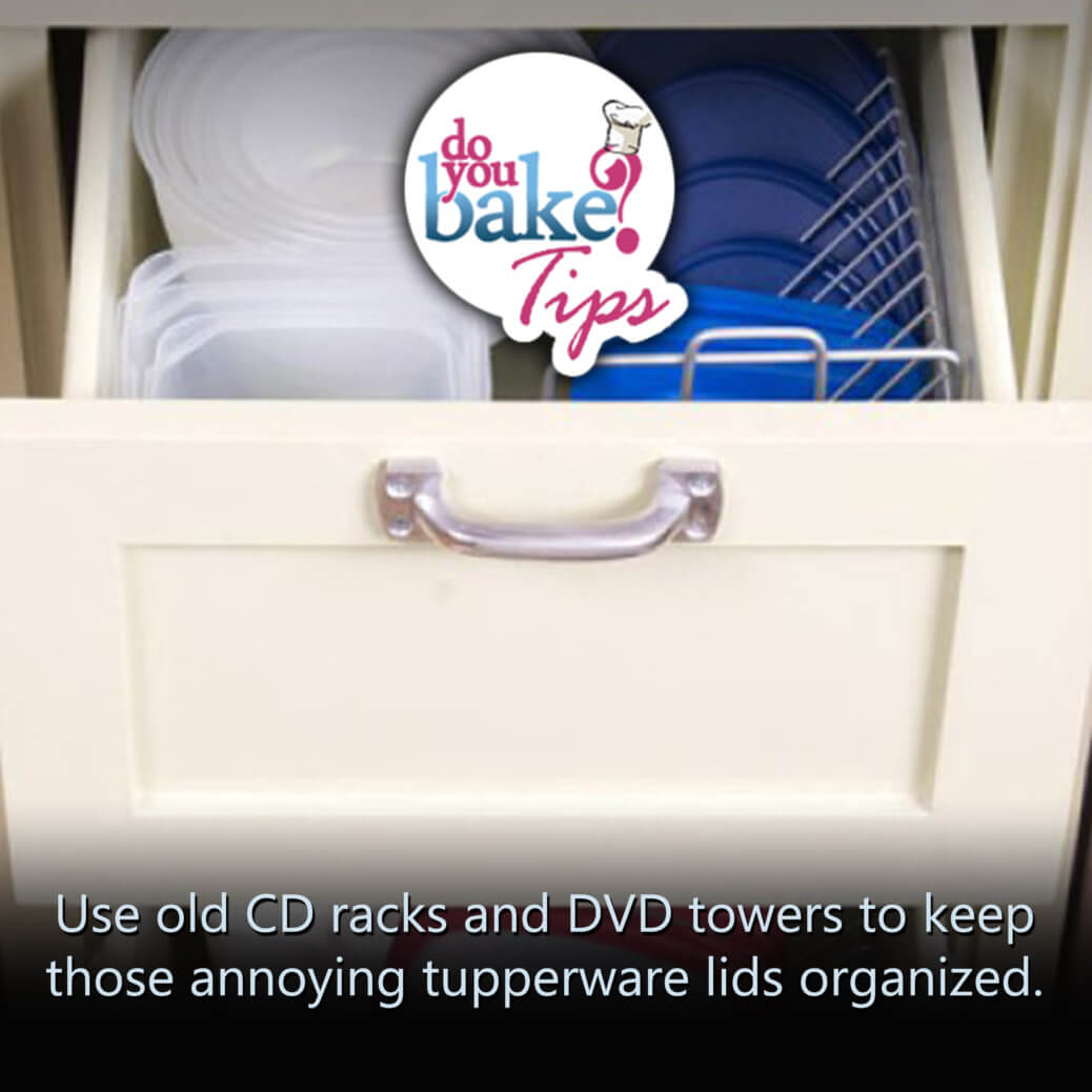 Tupperware Lids Organized Do You Bake