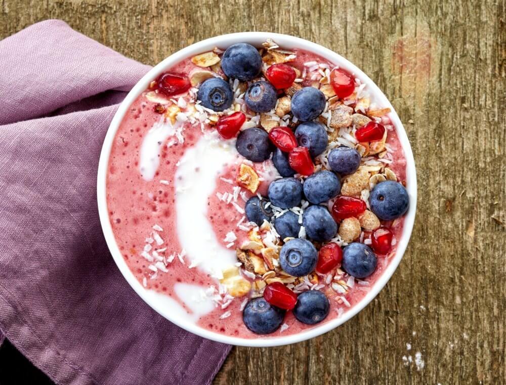 breakfast strawberry and cream smoothie bowl recipe