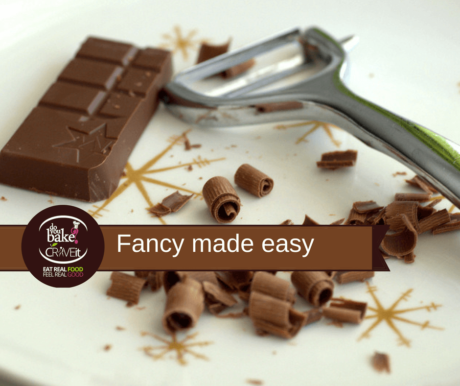use a veg peeler to make chocolate curls